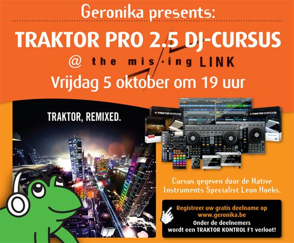 Geronika presents: TRAKTOR PRO 2.5 DJ-CURSUS