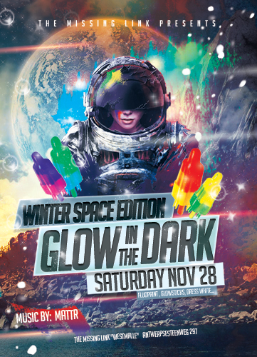 Glow in the dark // Winter Space Edition!